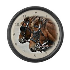 Carriage Horse Large Wall Clock