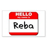 Hello my name is Reba Rectangle Decal