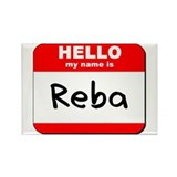 Hello my name is Reba Rectangle Magnet