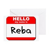 Hello my name is Reba Greeting Card