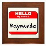 Hello my name is Raymundo Framed Tile