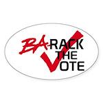 BaRack the vote Oval Sticker (50 pk)