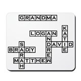 GRANDMA Crossword/Scrabble Mousepad