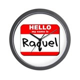 Hello my name is Raquel Wall Clock