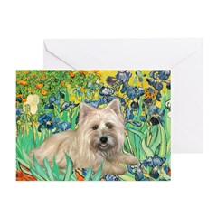 Irises/Cairn #4 Greeting Cards (Pk of 20)