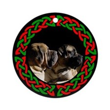 mastiff Pair Ornament (Round)