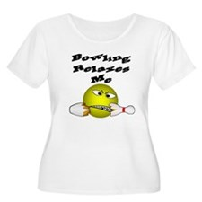 Angry Smiley Face Bowler T-Shirt
