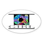 Monogram A Oval Sticker