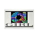 Monogram A Rectangle Magnet (100 pack)
