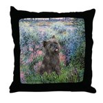 Seine/Cairn (brin) Throw Pillow
