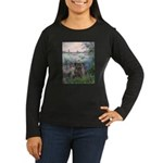 Seine/Cairn (brin) Women's Long Sleeve Dark T-Shir