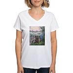 Seine/Cairn (brin) Women's V-Neck T-Shirt