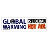 Liberal Hot Air Bumper Sticker -white
