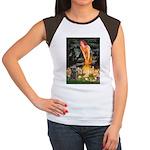Midsummer/Cairn (brin) Women's Cap Sleeve T-Shirt