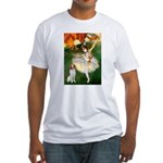 Dancer/Brittany Spaniel Fitted T-Shirt