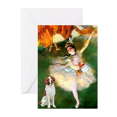 Dancer/Brittany Spaniel Greeting Cards (Pk of 10)