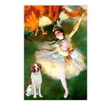 Dancer/Brittany Spaniel Postcards (Package of 8)