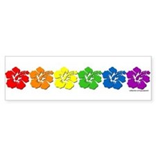 Hawaii Pride Rainbow Bumper Bumper Sticker