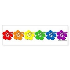 Hawaii Pride Rainbow Bumper Bumper Stickers