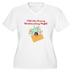 Wednesday Night Strike Bowler Women's Plus Size V-