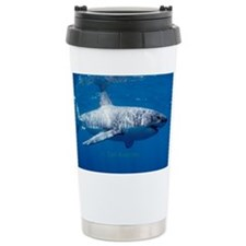 Great white shark passing Ceramic Travel Mug