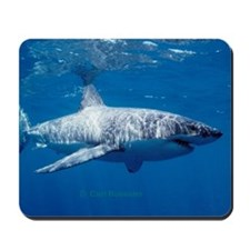 Great white shark sweeping Mousepad