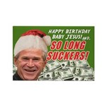 Bush's Last Christmas Rectangle Magnet (10 pack)