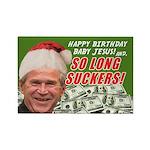Bush's Last Christmas Rectangle Magnet (10 pack)