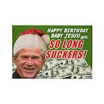 Bush's Last Christmas Rectangle Magnet