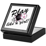 Play like a girl Keepsake Box