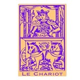 Le Chariot, Tarot Postcards (Package of 8)