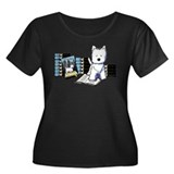 City Dog Women's Plus Size Scoop Neck Dark T-Shirt