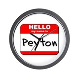 Hello my name is Peyton Wall Clock