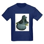 English Trumpeter Blue Check Kids Dark T-Shirt