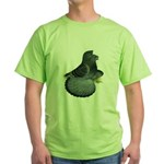 English Trumpeter Blue Check Green T-Shirt