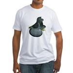 English Trumpeter Blue Check Fitted T-Shirt