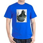 English Trumpeter Blue Check Dark T-Shirt