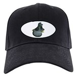 English Trumpeter Blue Check Black Cap