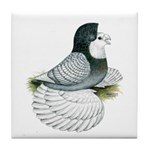 English Trumpeter Opal Bald Tile Coaster