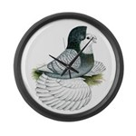 English Trumpeter Opal Bald Large Wall Clock