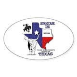 Bigger in Texas - Hurricane Ike Oval Decal