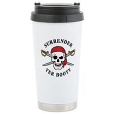 Surrender Yer Booty Ceramic Travel Mug