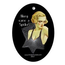 Along Came a Spider Oval Ornament