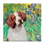 Irises/Brittany Tile Coaster