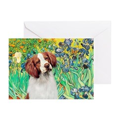 Irises/Brittany Greeting Cards (Pk of 10)