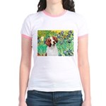 Irises/Brittany Jr. Ringer T-Shirt