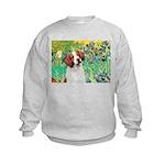 Irises/Brittany Kids Sweatshirt