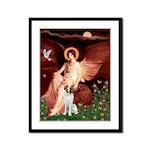 Angel/Brittany Spaniel Framed Panel Print