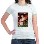 Angel/Brittany Spaniel Jr. Ringer T-Shirt