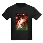 Angel/Brittany Spaniel Kids Dark T-Shirt